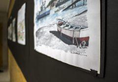 "Exposición ""Croquis de Talcahuano""  de Rodrigo Nuñez"