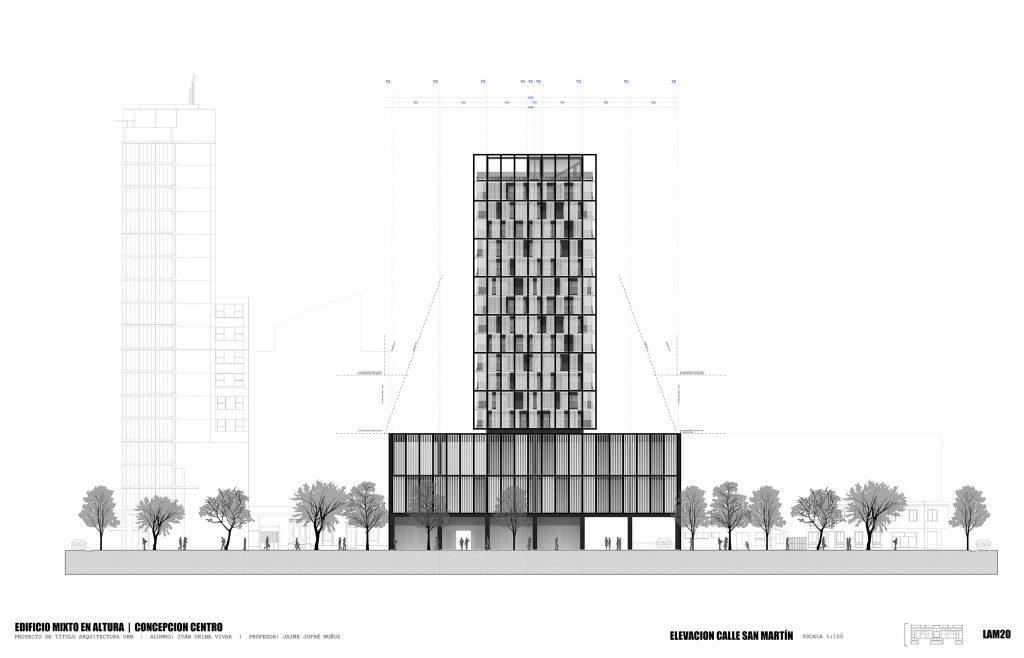 EDIFICIO MIXTO EN ALTURA - Iván Uribe - Escuela de Arquitectura UBB
