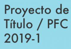 PFC / Proyecto de Título 2019-1