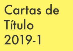 Cartas de Título 2019-1
