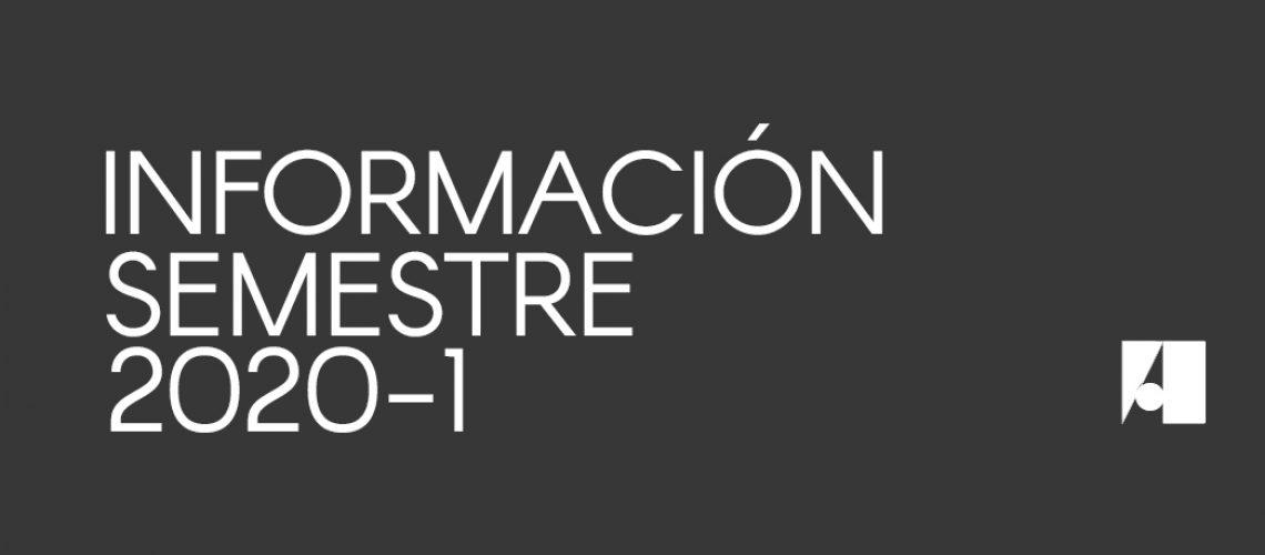 Información Semestre 2020-1