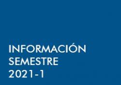 Información Semestre 2021-1